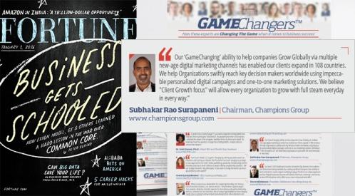 Subhakar Rao featured in Fortune magazine